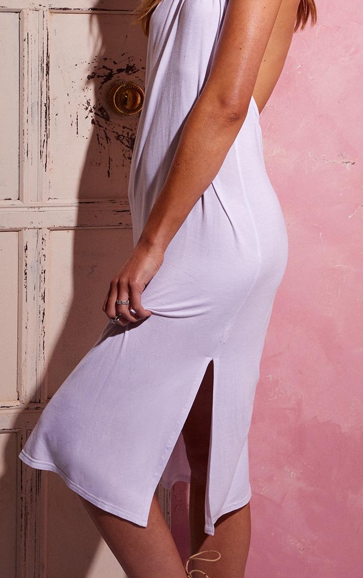 White Backless Strappy Midi Dress 4