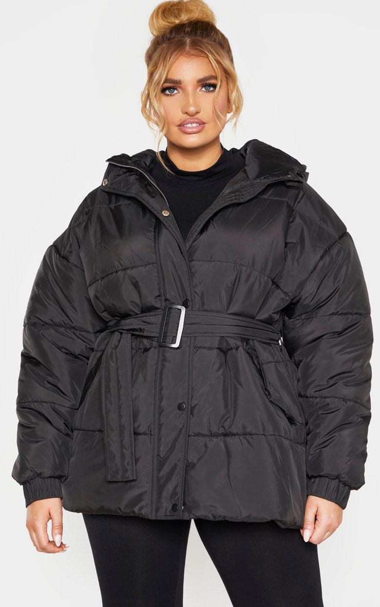 Plus Black Belted Puffer 1