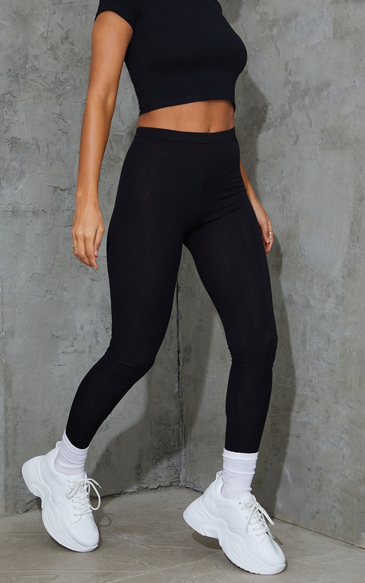 Black and Grey Basic Jersey Legging 2 Pack 2