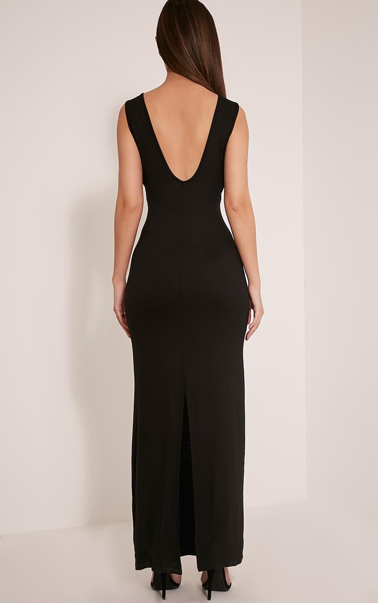 Basic robe maxi à emmanchures larges noire 2