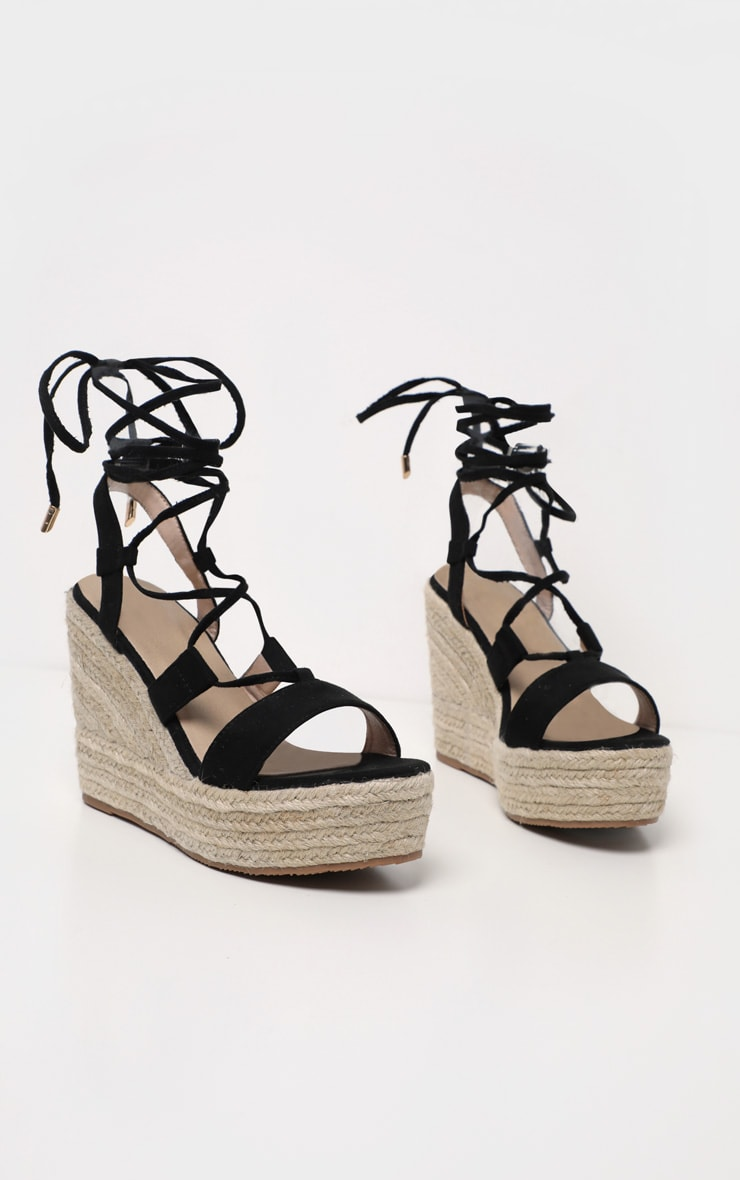 Black Ghillie Espadrille Wedge 3