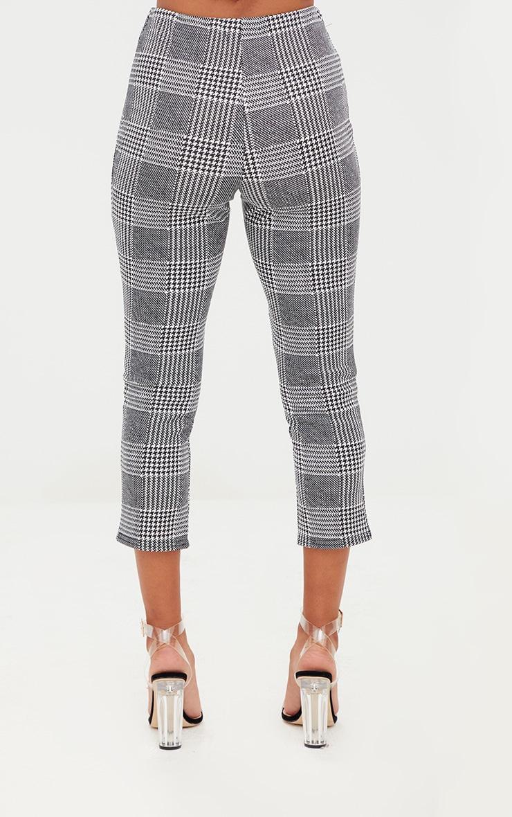 Petite Check Split Hem Trousers 3