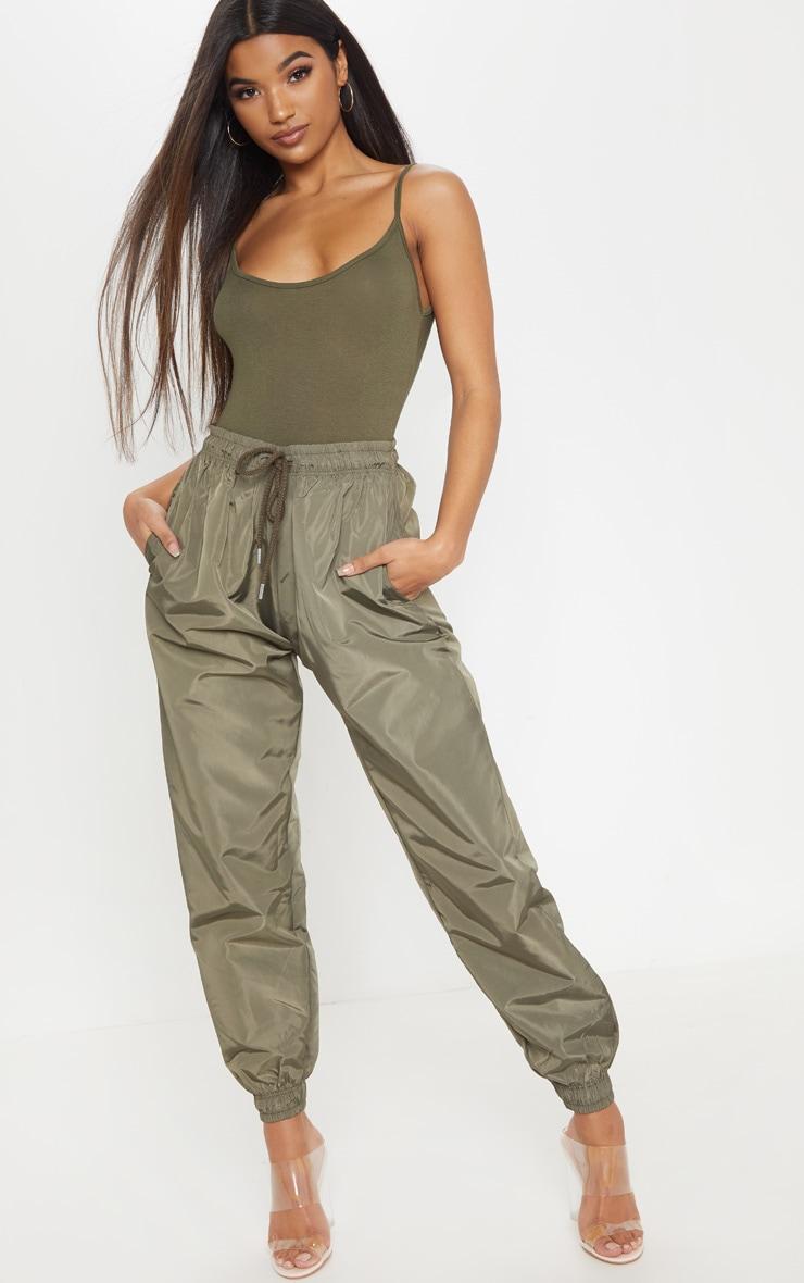 Basic Khaki Bodysuit 5