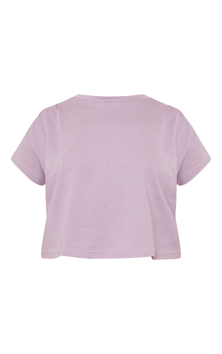 Mauve Cropped Washed T Shirt 5