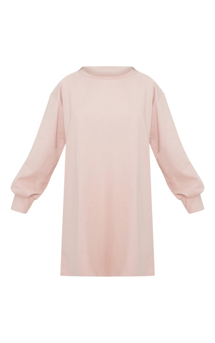 Robe sweat oversize nude 3