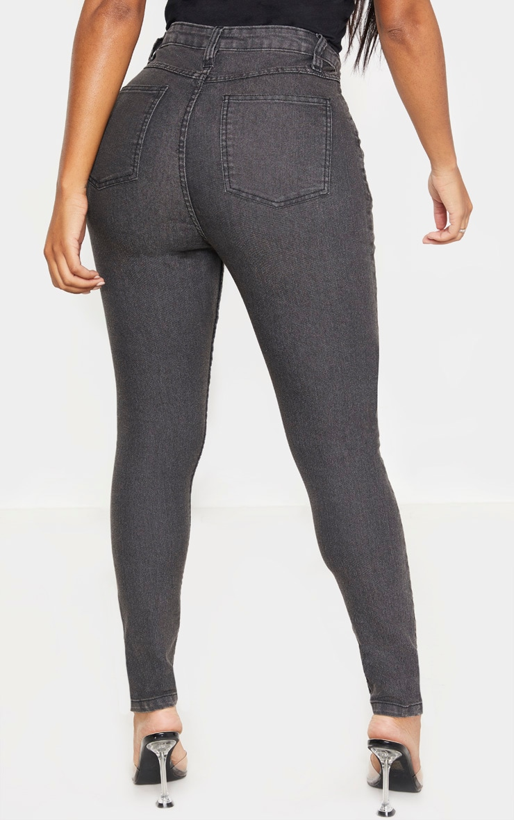 Shape Charcoal High Waisted Skinny Jean 4