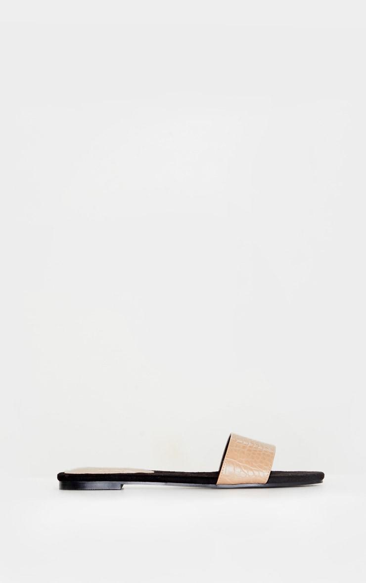 Nude Single Strap Mule Sandals 3