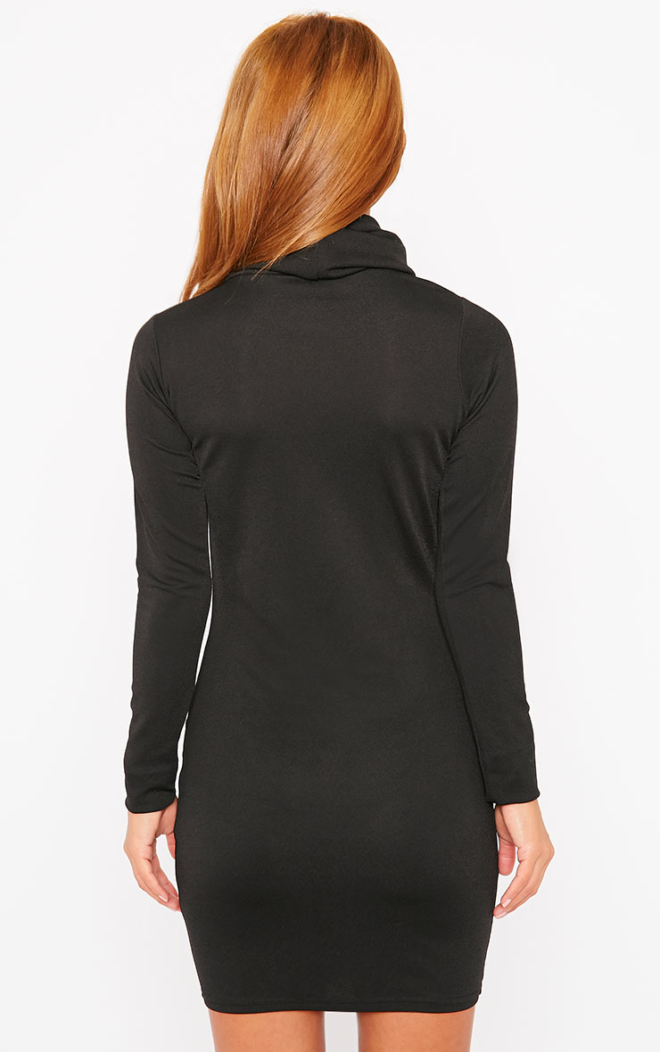 Catrina Black Roll Neck Dress 2
