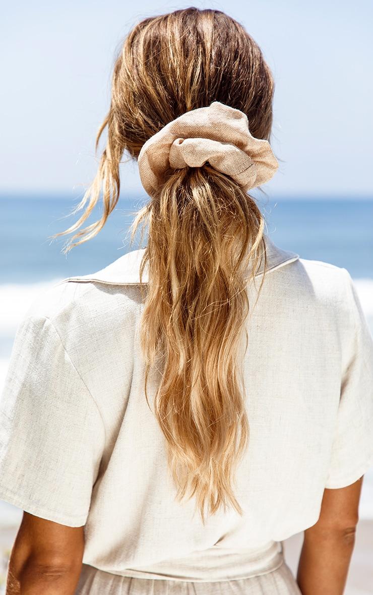Sand Hessian Scrunchie image 1