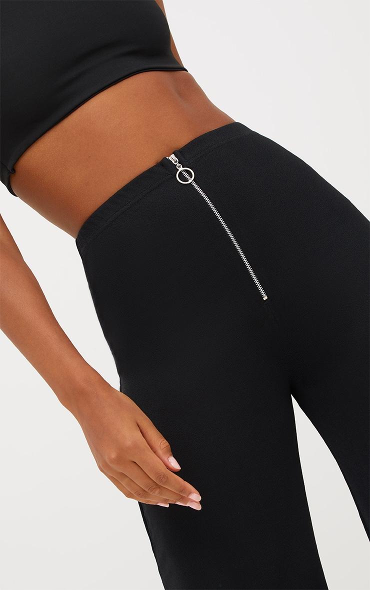 Black Ring Zip Culottes 5