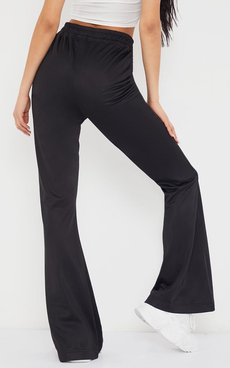 Black Tri Cot Flared Trousers 3