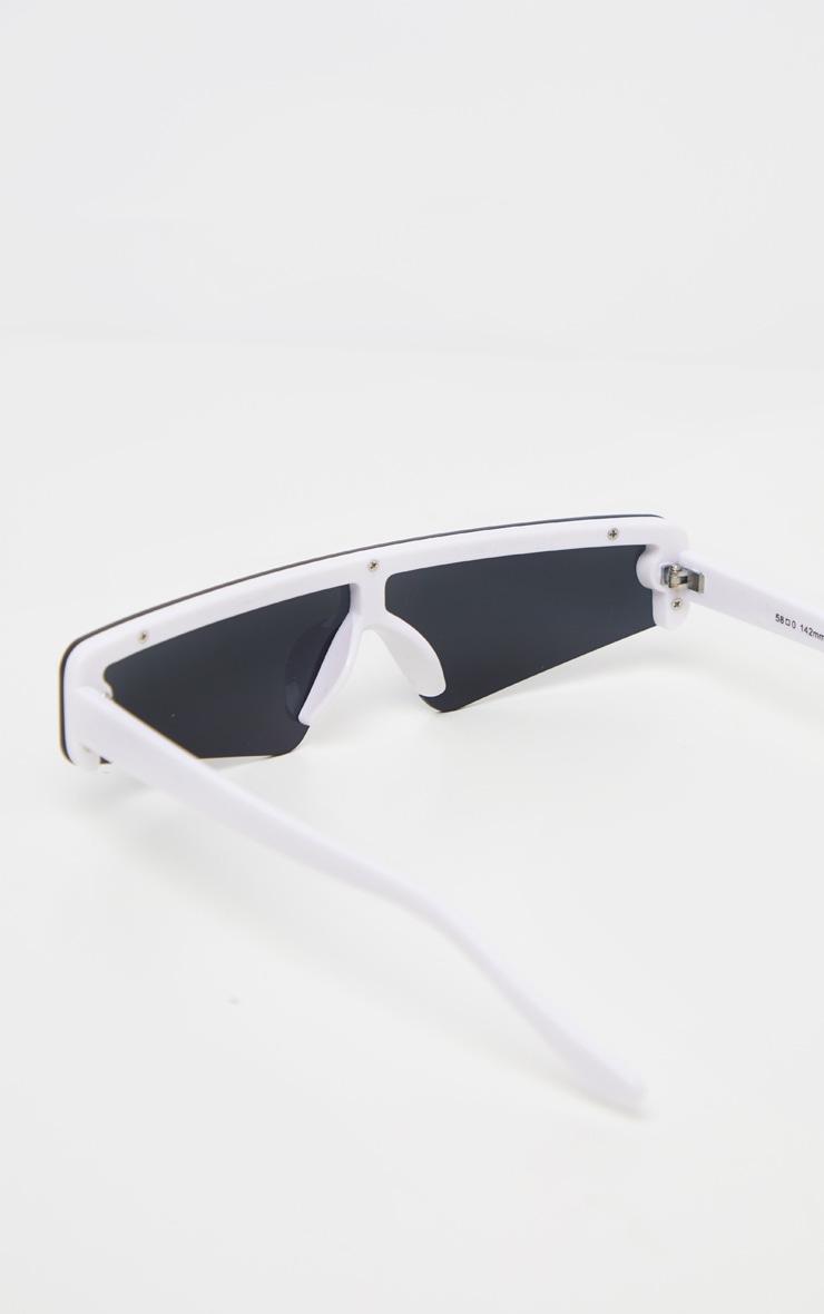 Black Retro Slim Sunglasses 4