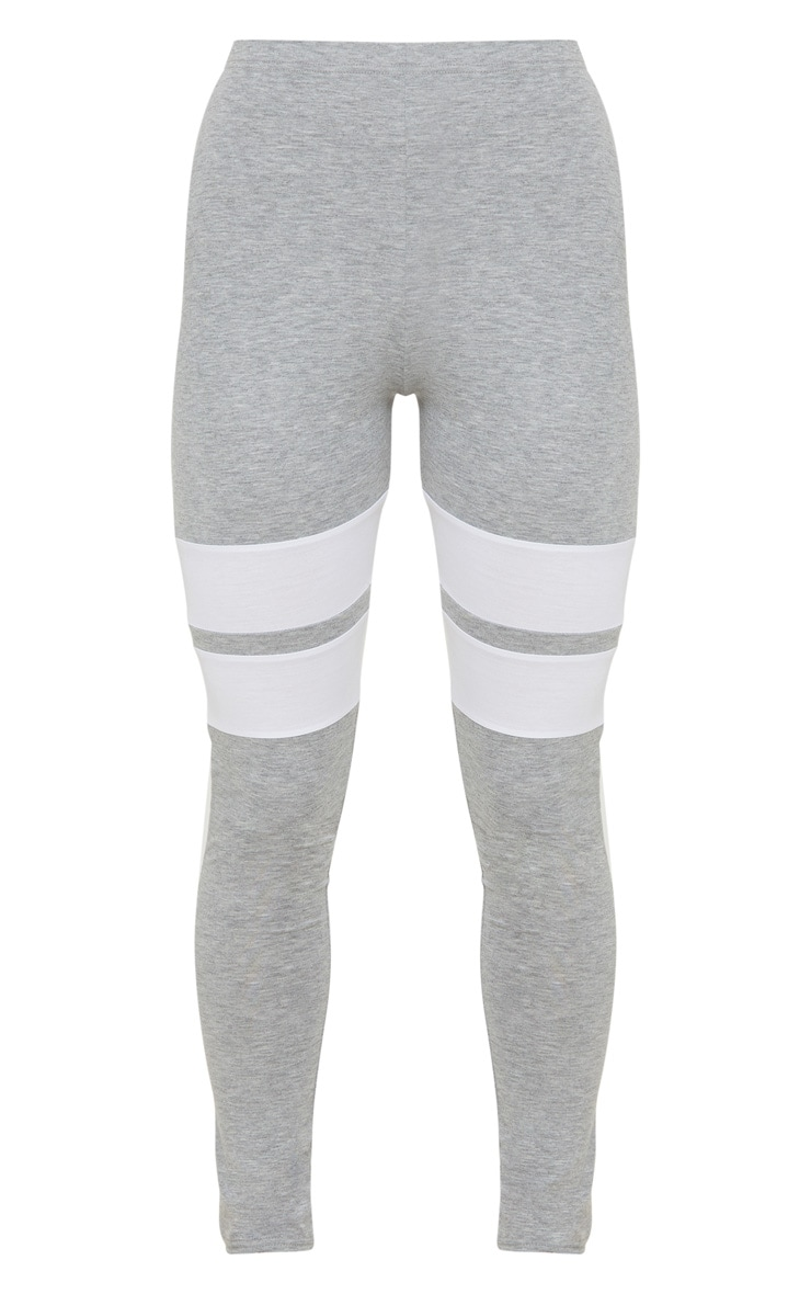 Grey Marl Double Track Stripe Legging  3