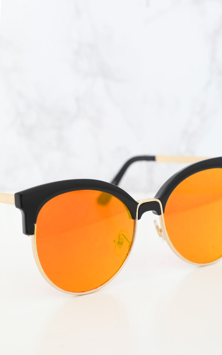 Orange Lens Mirrored Sunglasses 3