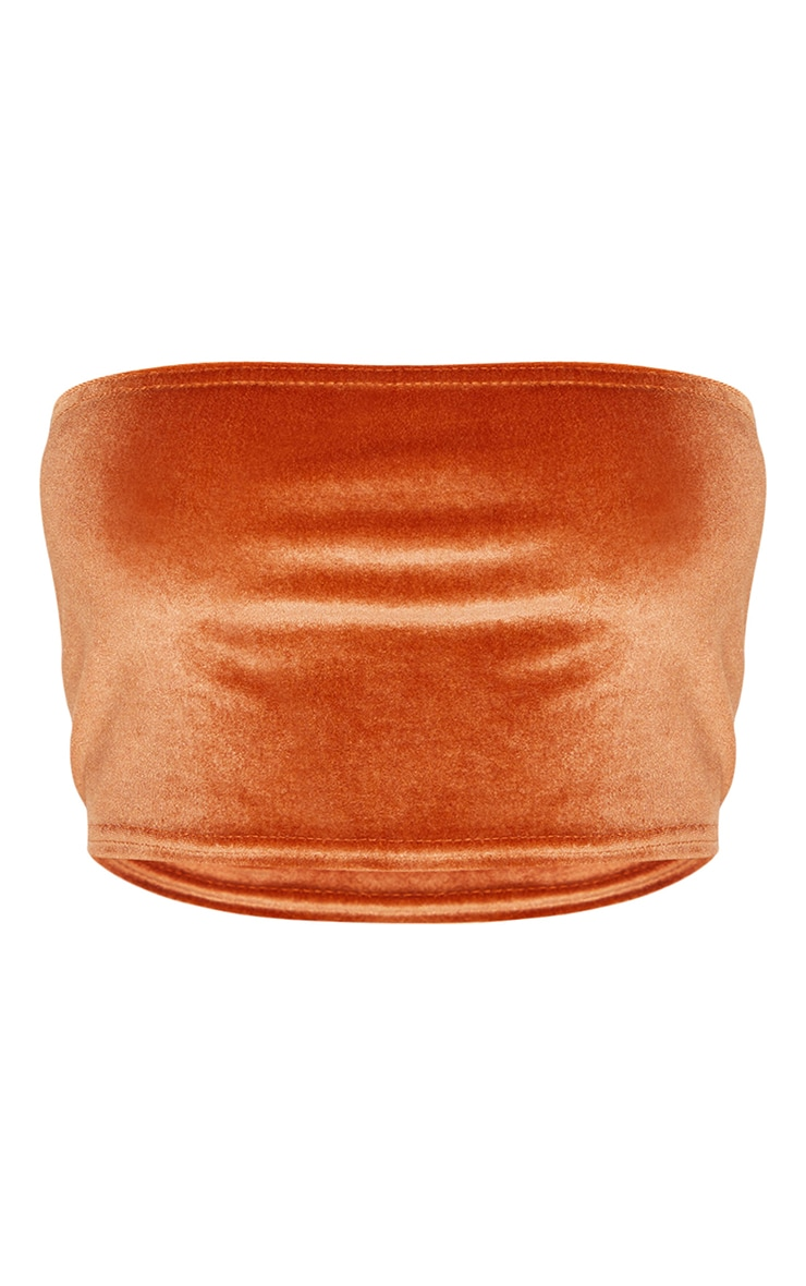 Burnt Orange Velour Bandeau Top 5