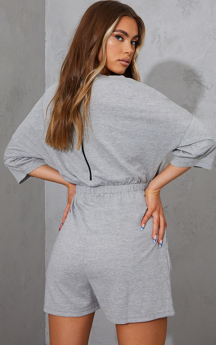 Grey Marl Malibu Edition T Shirt Playsuit 2