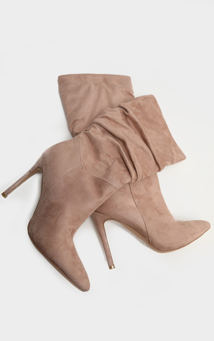 Taupe Point Slouch Calf Boot 4