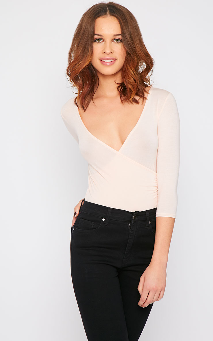 Naila Nude Wrap Over Top  2
