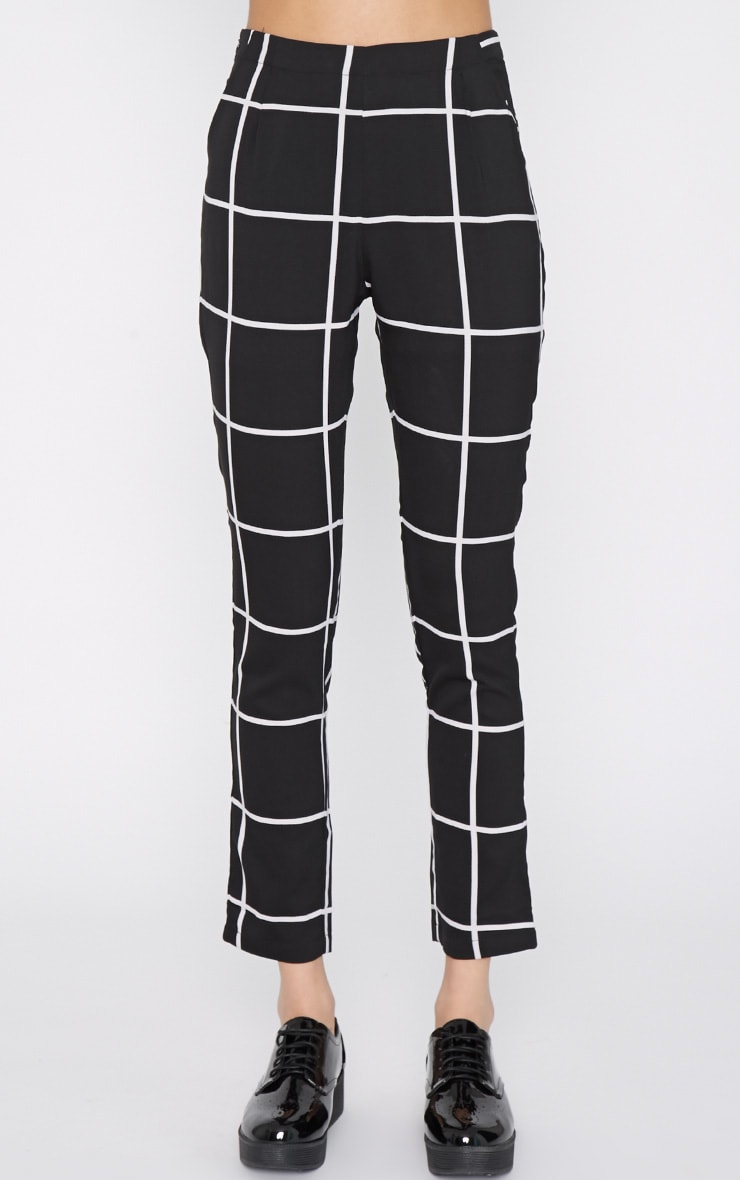 Antonia Monochrome Square Print Trouser 2