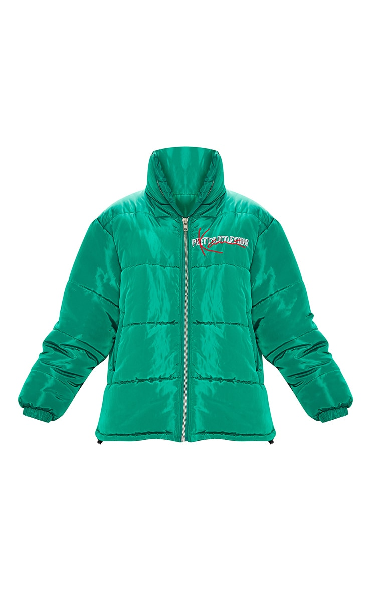 KARL KANI Green Embroidered Puffa Jacket 5