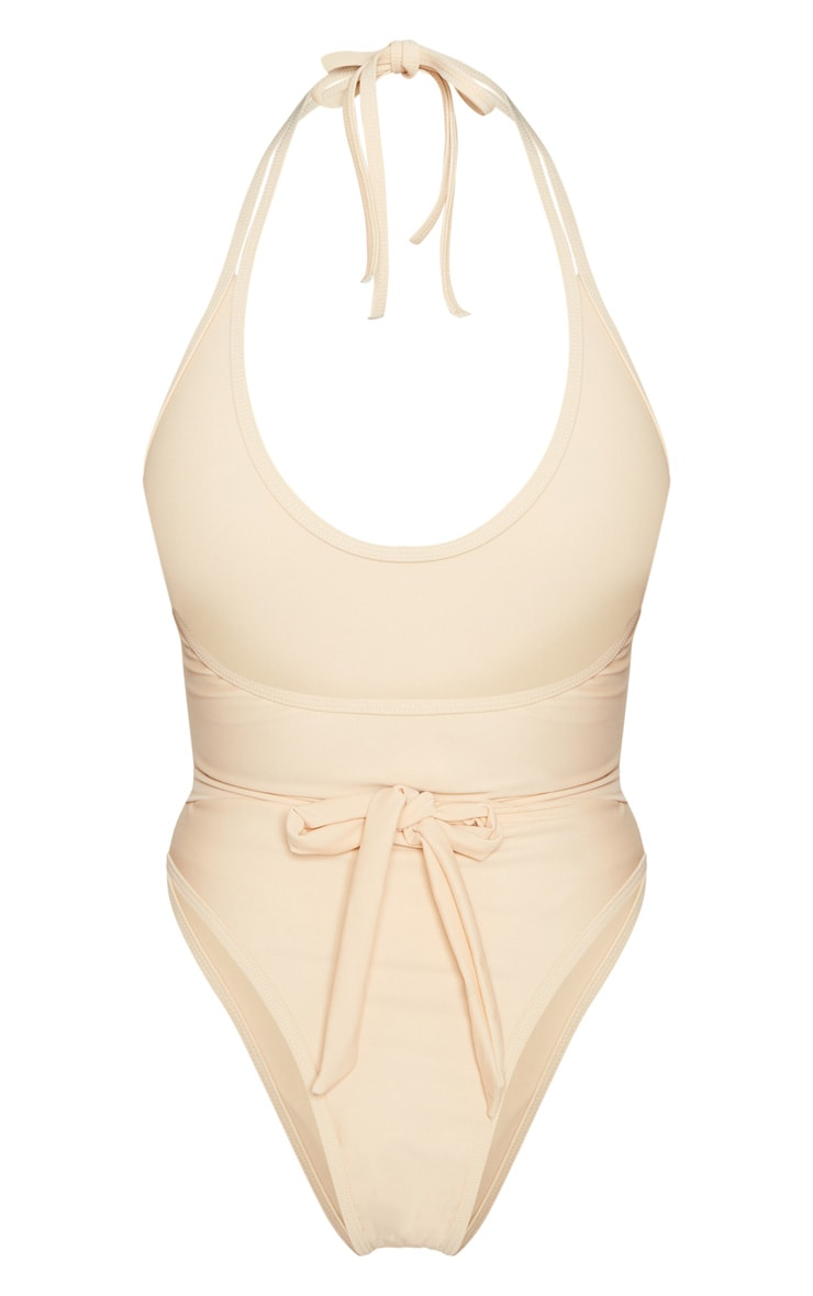 Petite Nude Lion Belted Swimsuit 4