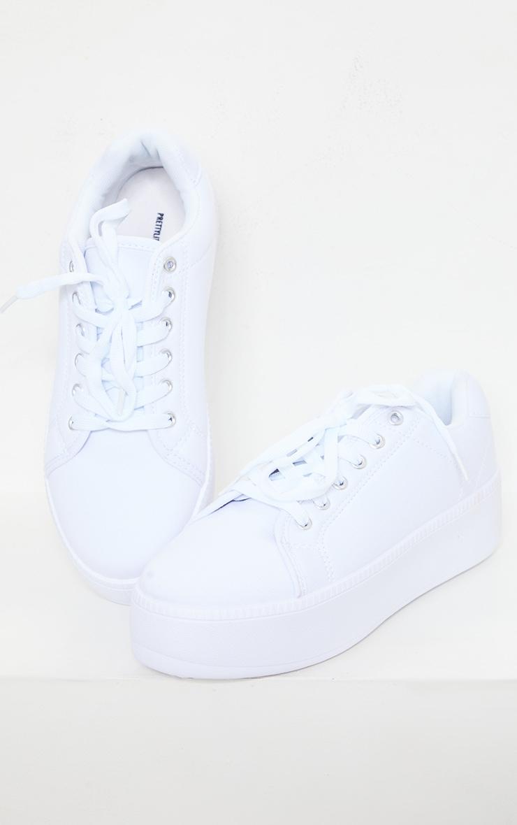 White Flatform Sneakers 3