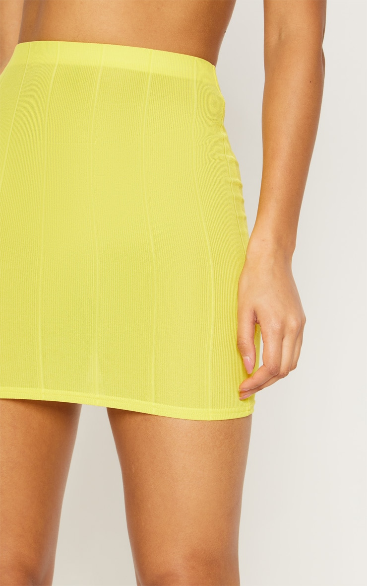 Yellow Bandage Mini Skirt  6