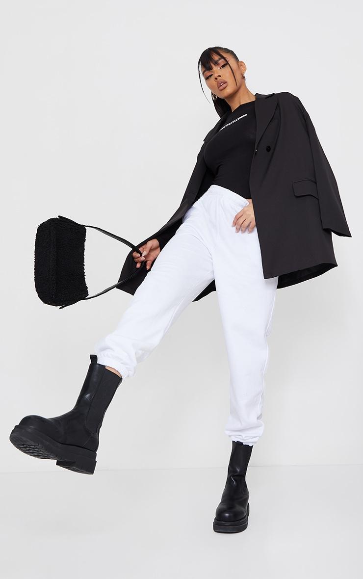 PRETTYLITTLETHING Black Printed Long Sleeve Bodysuit 3
