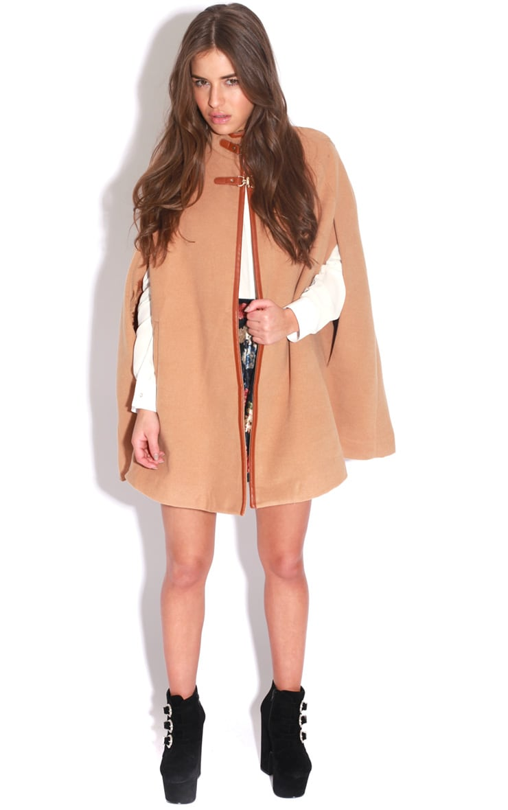 Renata Beige Buckle Cape Coat 3