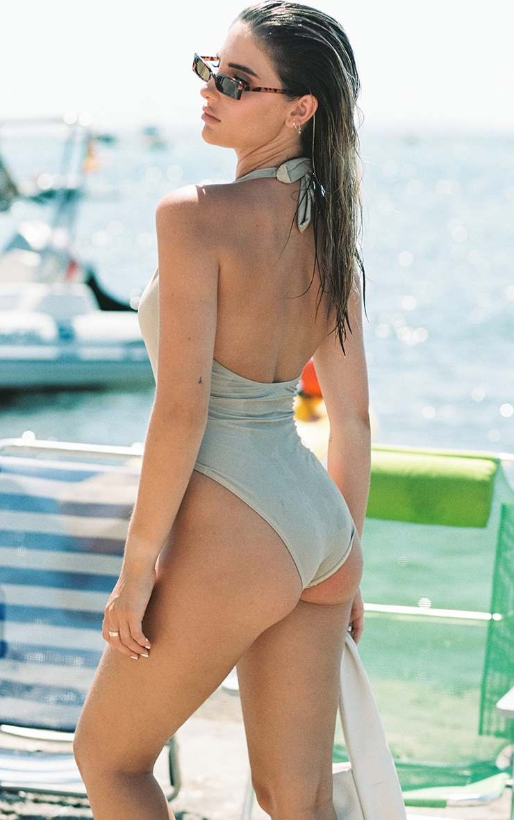 Sand Plunge Belted Swimsuit 3