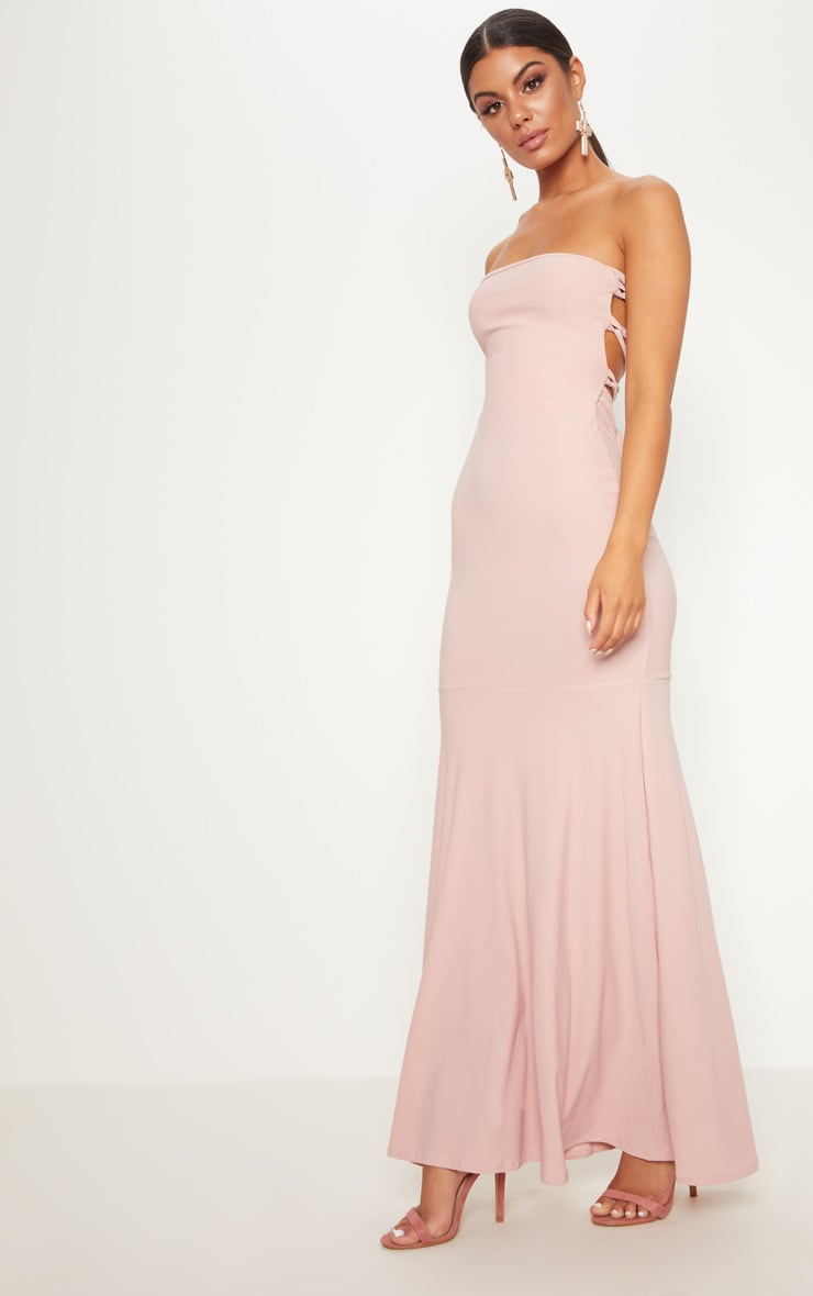 Dusty Pink Strappy Detail Maxi Dress 4