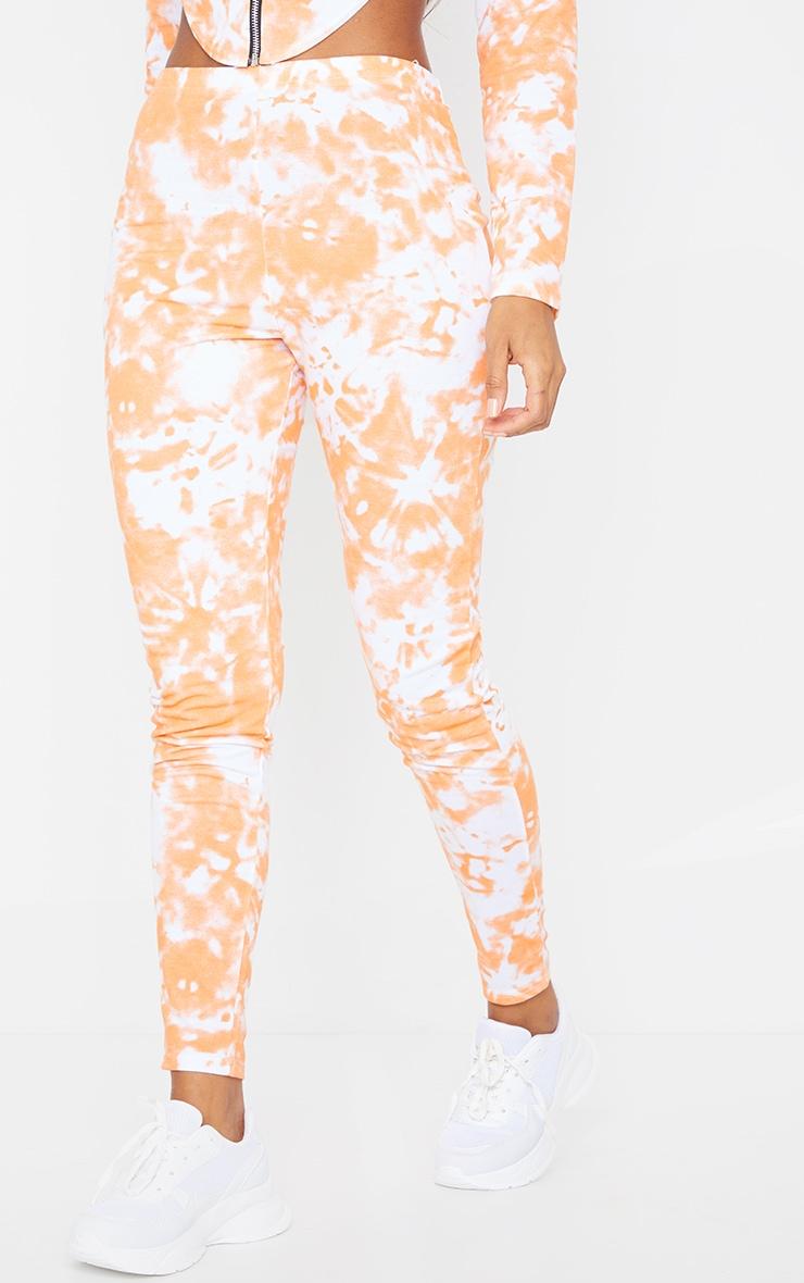Orange Tie Dye High Waist Skinny Joggers 2
