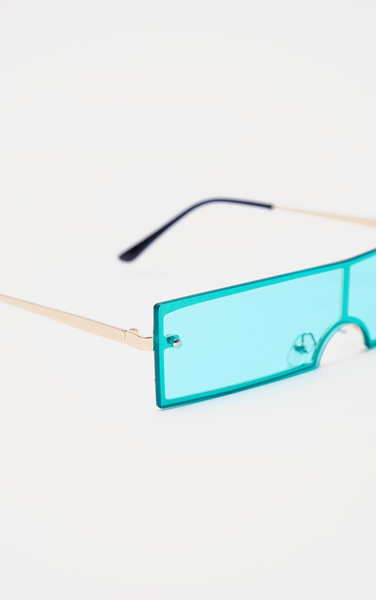 Blue Rectangular Sunglasses 4