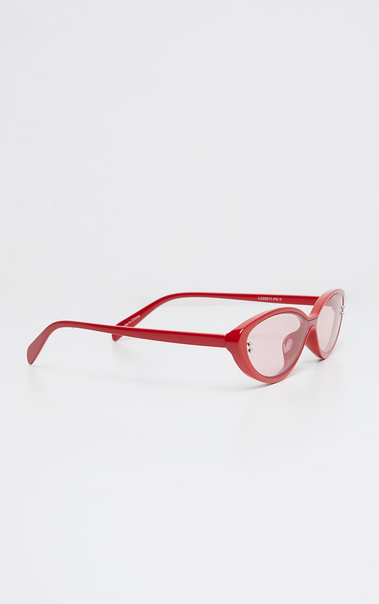Red Cat Eye Tinted Lens Sunglasses 2
