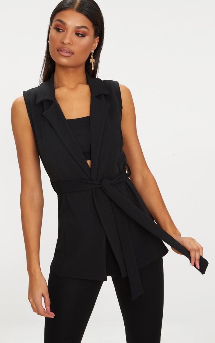 Sleeveless Belted Blazer 1
