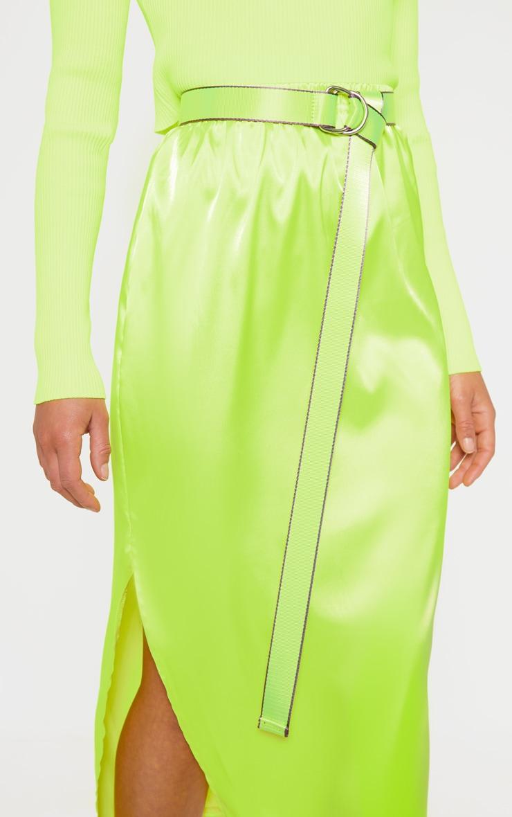 Neon Lime Webbing Belt 2