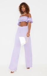 Lilac Frill Detail Cut Out Wide Leg Jumpsuit 3
