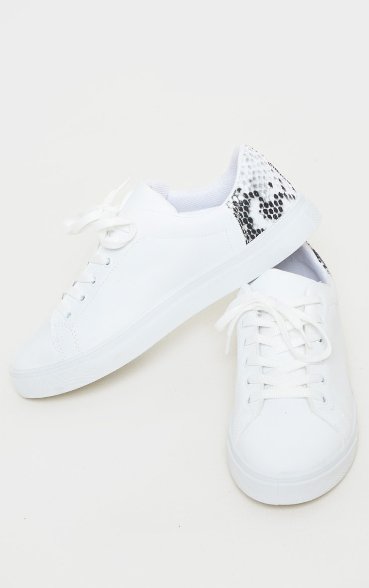 Snake Lace Up PU Sneaker 3