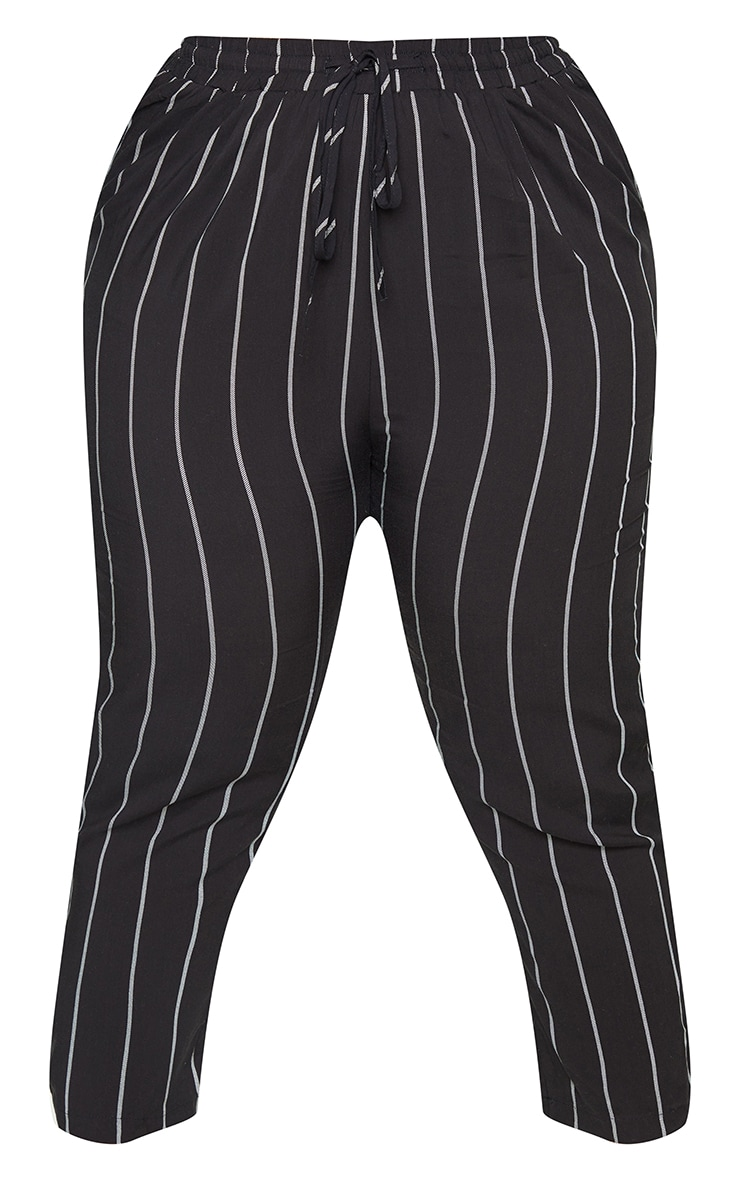 Plus Pin Stripe Casual Trousers 5