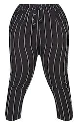 Plus Pin Stripe Casual Trousers 5