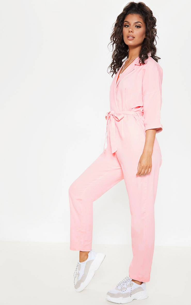 Dusty Pink Denim Utility Jumpsuit 4