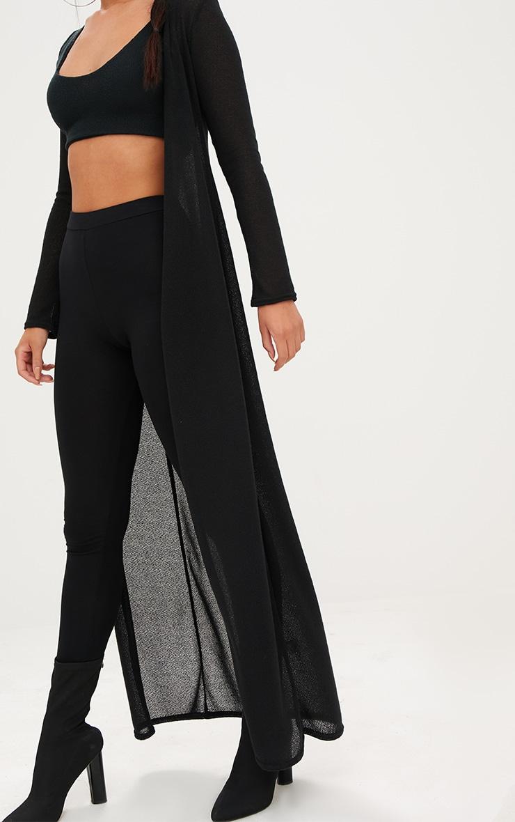 Black Lightweight Knit Longline Cardigan 5