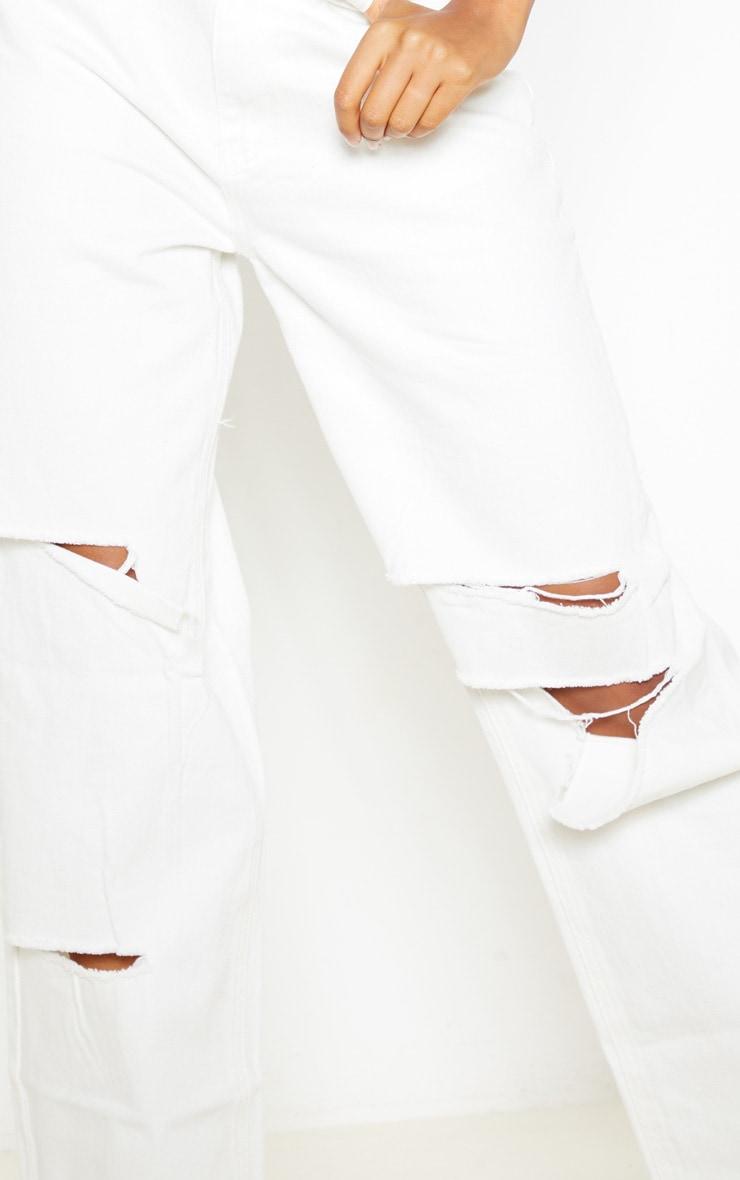Jean baggy blanc style boyfriend  5