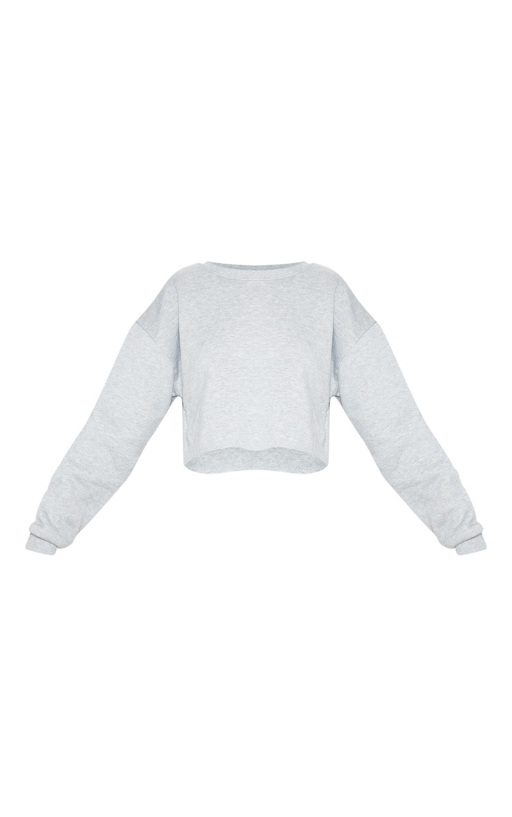 Grey Ultimate Cropped Sweater 3