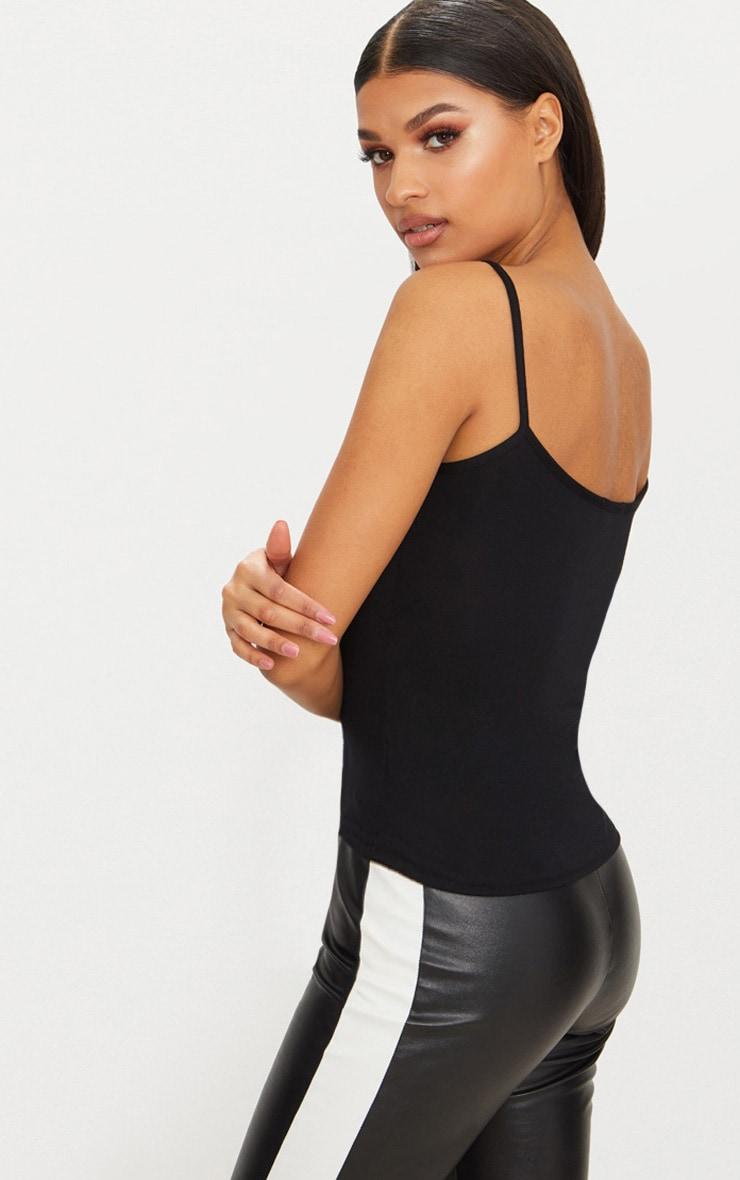Basic Black Jersey Cami Vest  2