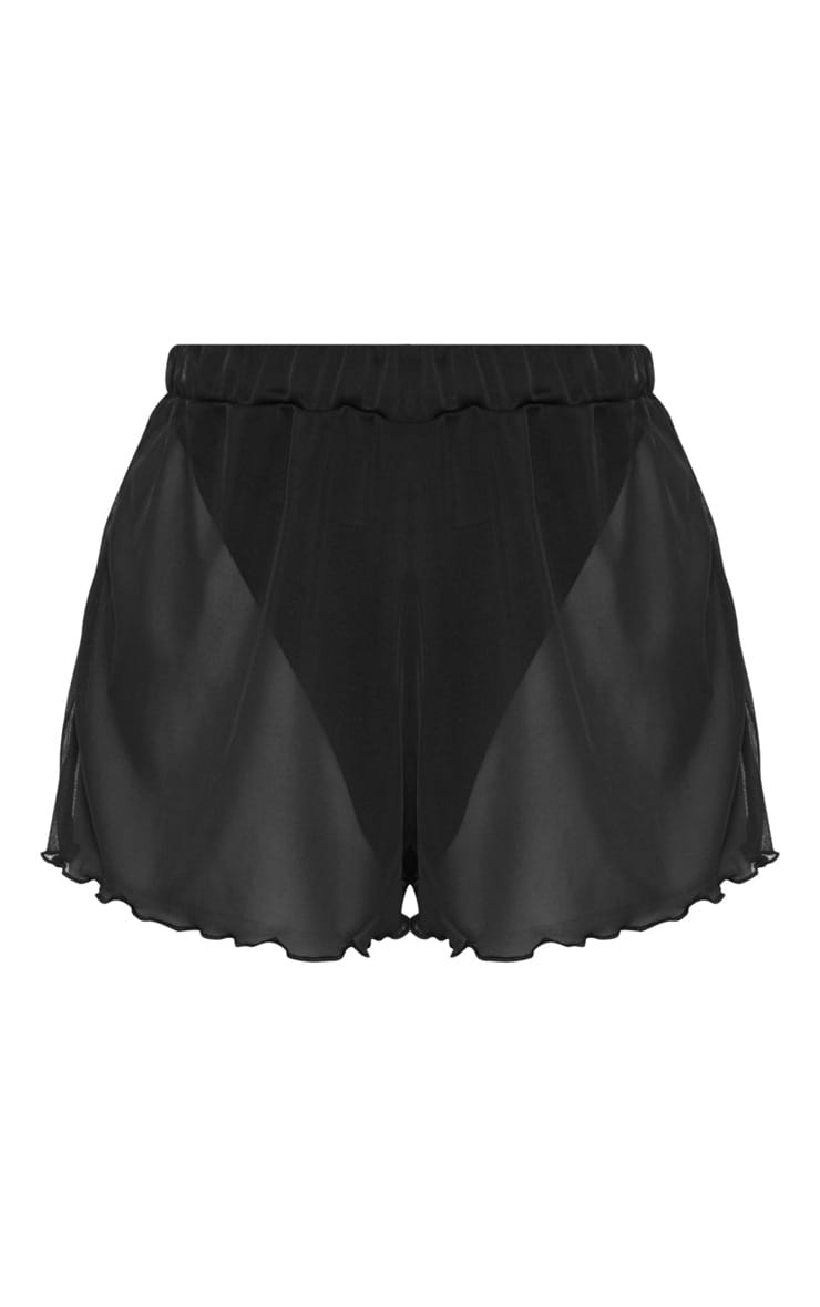 Black Mesh Beach Short 7