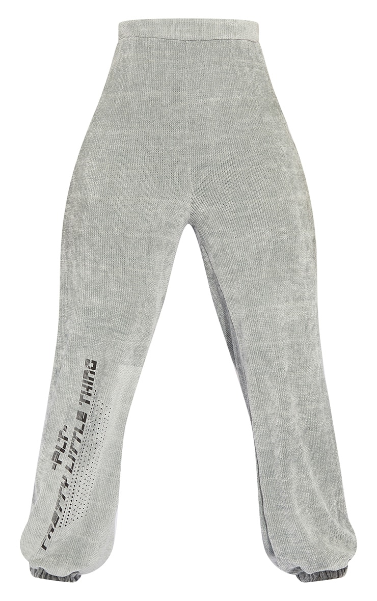 Tall Grey Chenille Oversized Joggers 5