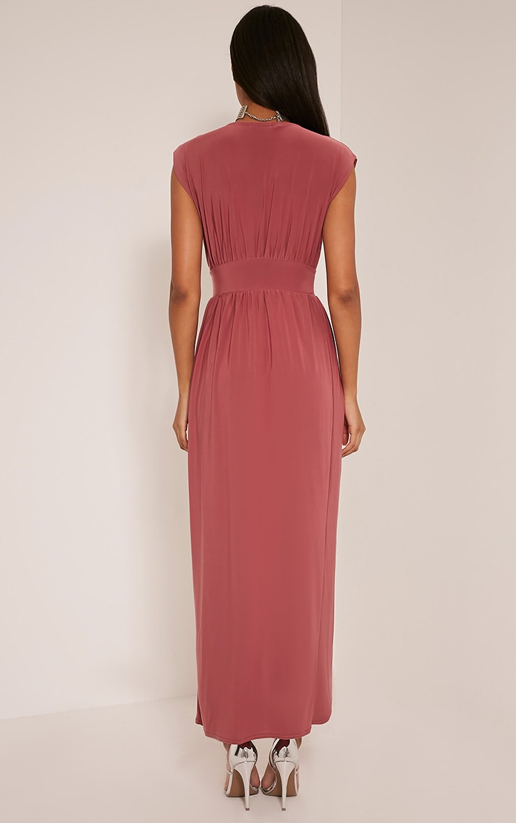 Marlisa Rose Slinky Plunge Maxi Dress 2