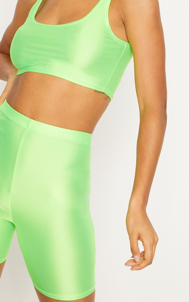 Lime Neon Cycling Shorts 6