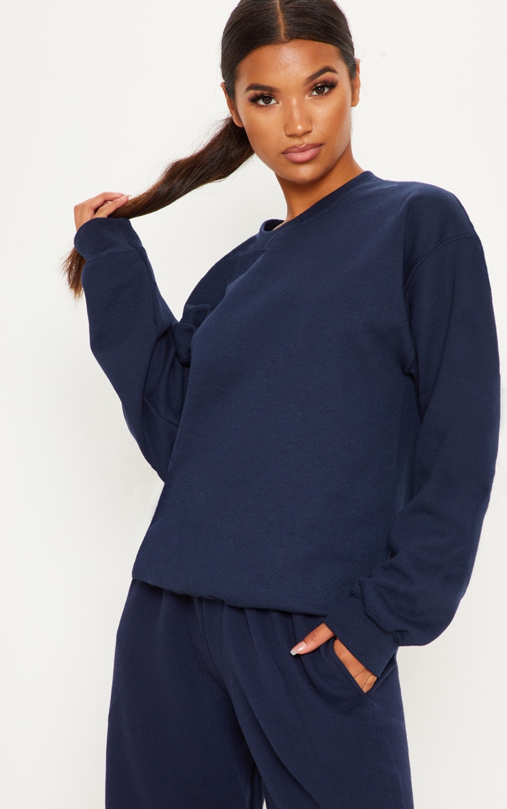 Navy Ultimate Oversized Sweater 2